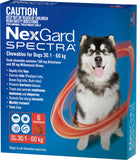 Nexgard Spectra Red For Dogs 30.1-60kg