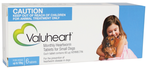 Valuheart Heartworm Tablets for Small Dogs Under 10kg