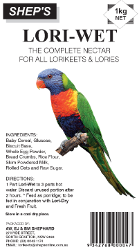 Shep's Lorikeet Wet Mix