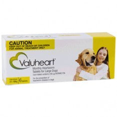 Valuheart Heartworm Tablets for Large Dogs 21-40kg