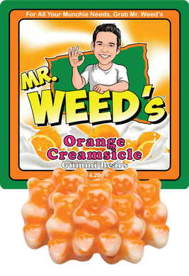 Mr. Weed's Orange Creamsicle Gummi Bears