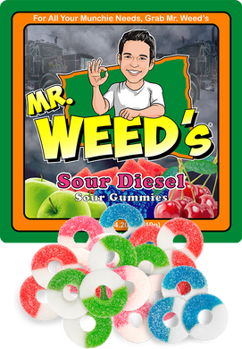 Mr. Weed's Sour Diesel Gummi Rings