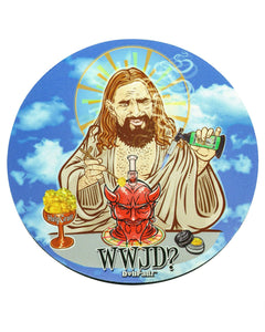 "8"" Rubber Dropmat WWJD"