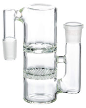 Load image into Gallery viewer, Clear Glass Honeycomb to Turbine Perc Ashcatcher