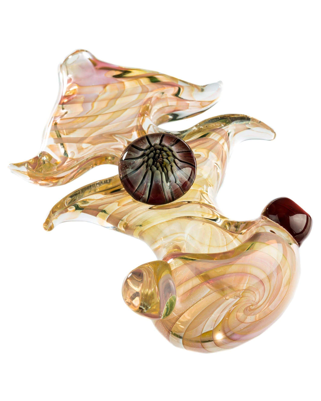 Finger Pinched Spiral Fumed Spoon Pipe