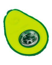Load image into Gallery viewer, Silicone Avocado Glass Bowl
