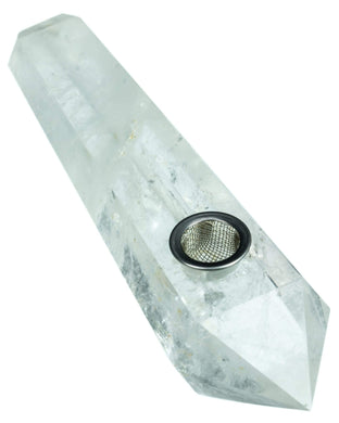 Quartz Crystal Stone Pipe