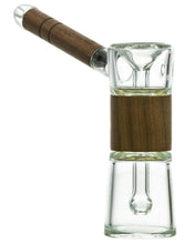 Load image into Gallery viewer, marley natural glass bubbler w/ wood accents