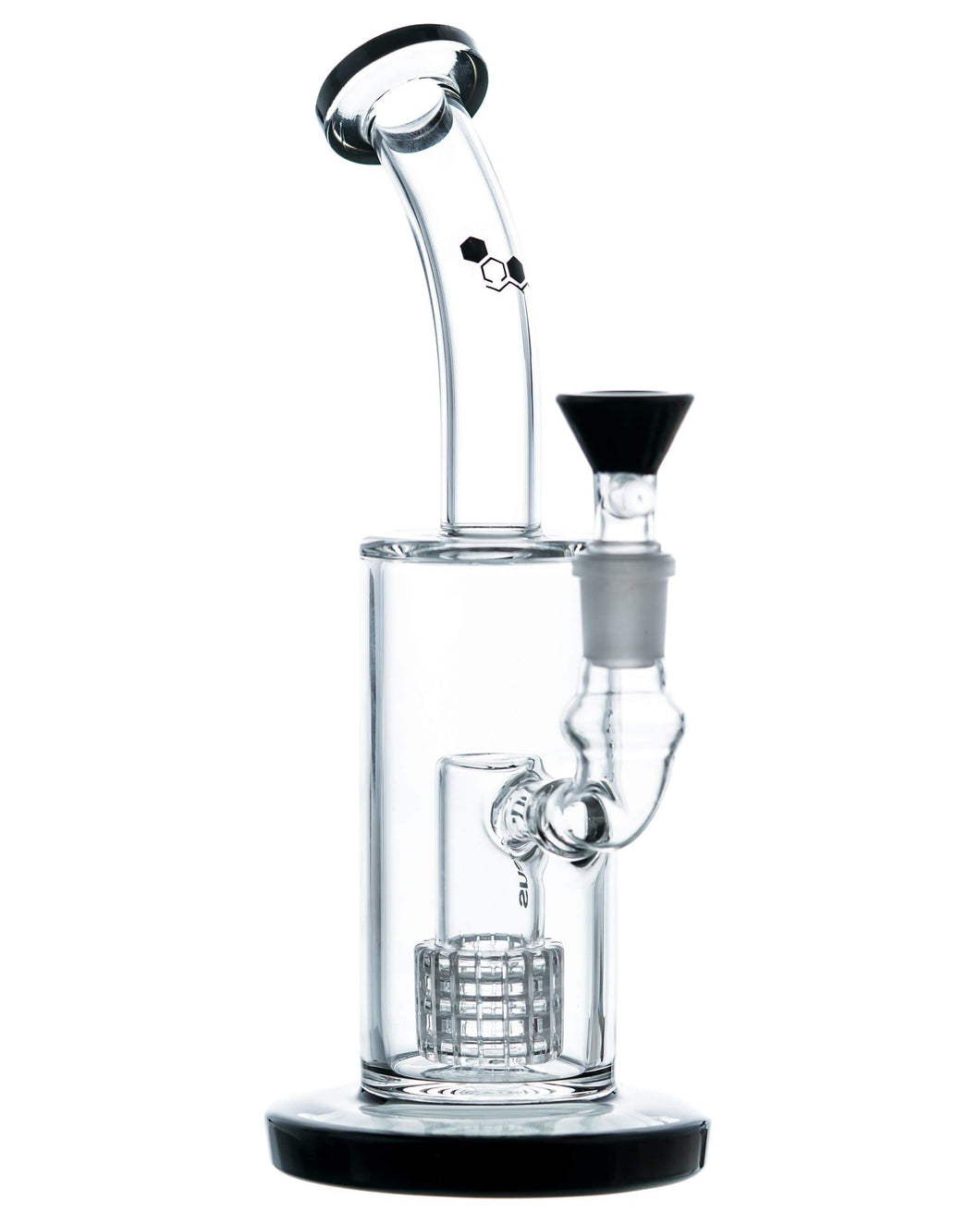 Bent Neck Matrix Perc Bong w/ Black Accents