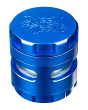 Load image into Gallery viewer, Blue 4-Piece Large Radial Teeth Aluminum Grinder