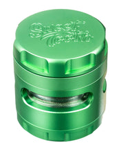 Load image into Gallery viewer, Green 4-Piece Large Radial Teeth Aluminum Grinder