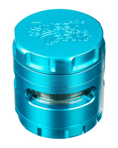 Teal 4-Piece Large Radial Teeth Aluminum Grinder