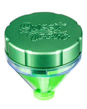 "Load image into Gallery viewer, Green ""Fill 'er Up"" Funnel Style Aluminum Grinder"