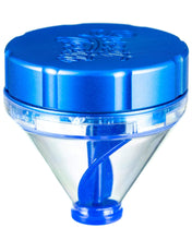"Load image into Gallery viewer, Blue ""Fill 'er Up"" Funnel Style Aluminum Grinder"