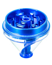 "Load image into Gallery viewer, Sweet Tooth Blue ""Fill 'er Up"" Funnel Style Aluminum Grinder"