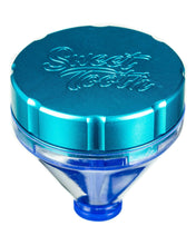 "Load image into Gallery viewer, Teal ""Fill 'er Up"" Funnel Style Aluminum Grinder"