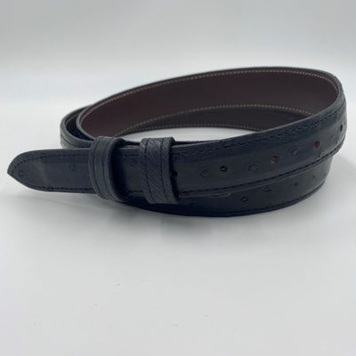 "1.25"" Ostrich Belt - Smoke Grey"