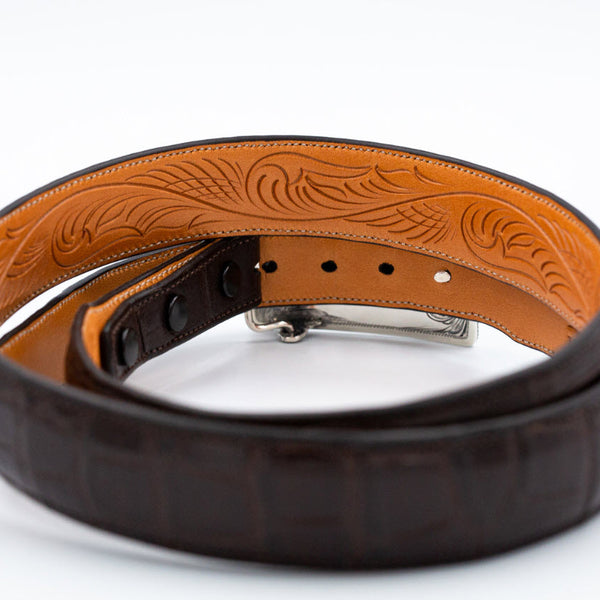 1.25″ Premium American Alligator Belt - BROWN