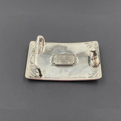 Sterling Silver Bucking Bronc Belt Buckle