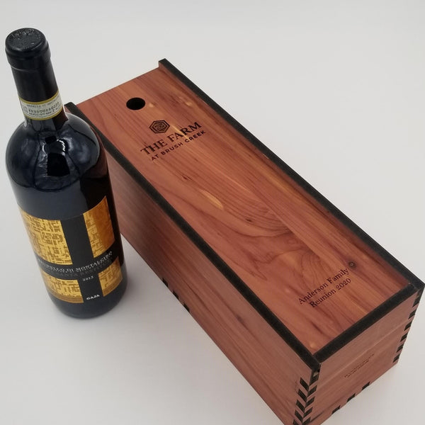 Wine Box in Cedar