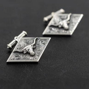 Diamond Shaped Steer Cuff Links