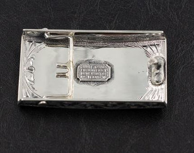 Fly Fisherman's Sterling Silver Belt Buckle
