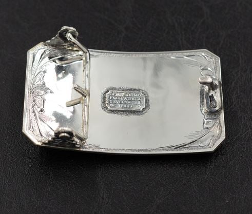 Lone Buffalo Sterling Silver Belt Buckle