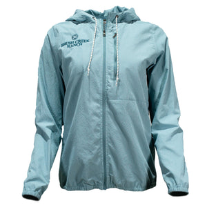 Women's Hooded Open Air Caster - Dusty Blue
