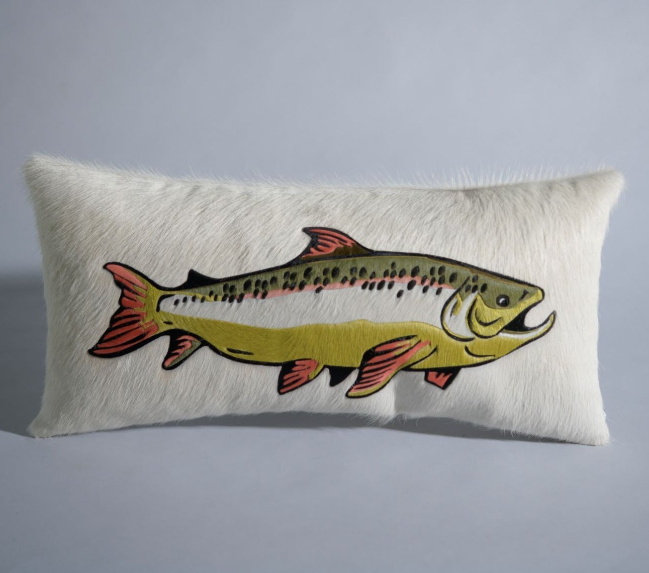 Trout Pillow - Cream
