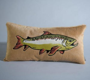 Trout Pillow - Maple
