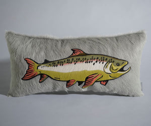 Trout Pillow - Silver