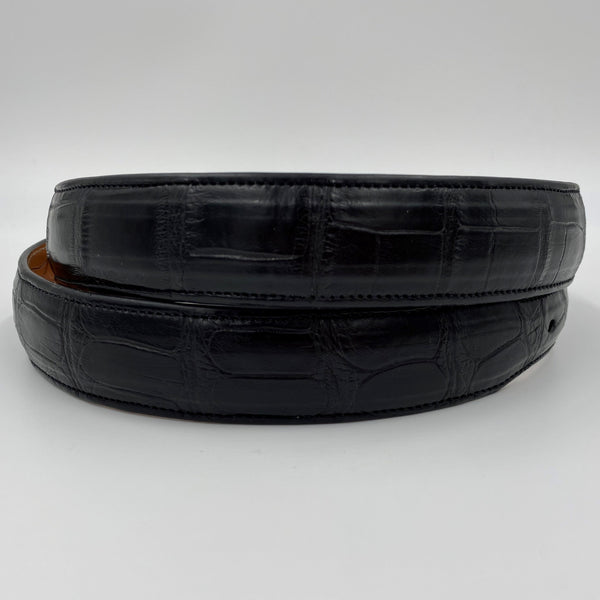 1.25″ Premium American Alligator Belt - BLACK
