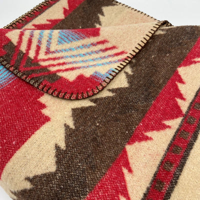 Native American Design Throw Blanket - Red