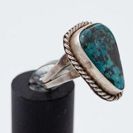 Navajo 1970s Nevada Turquoise Ring