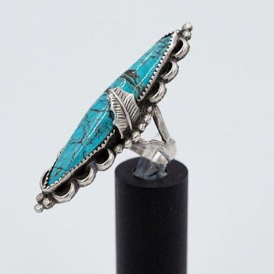 Navajo 1960s Nevada Turquoise Ring