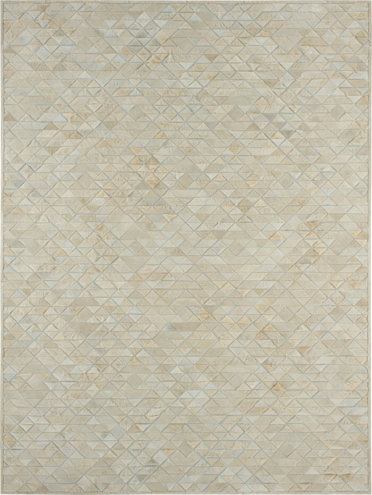 9' x 12' Area Rug - Cream Geometric