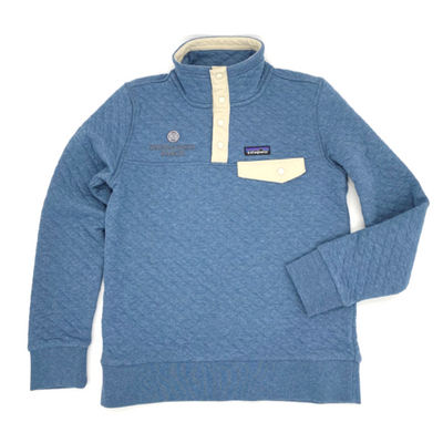 Women's Organic Cotton Quilt Snap-T Pullover - Blue