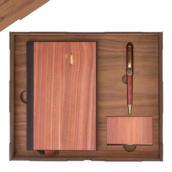 Business Gift Sets in Cedar with Lined Paper