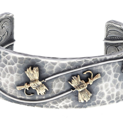 Sterling Silver & Gold Fly Fishing Bracelet