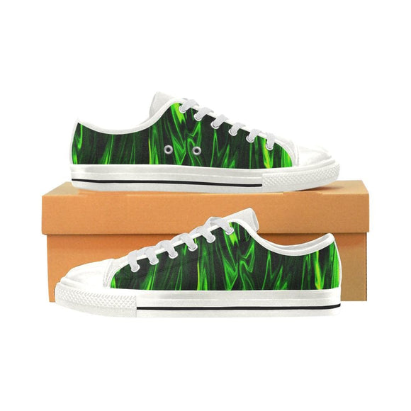 Green Fire Low Top Shoes