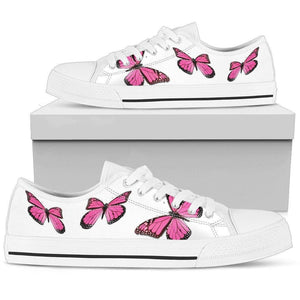 Womens Butterfly Shoes White Butterfly Shoes Low Top Skate Shoes
