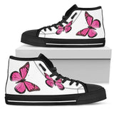 Pink Butterfly Shoes High Top With Butterflies