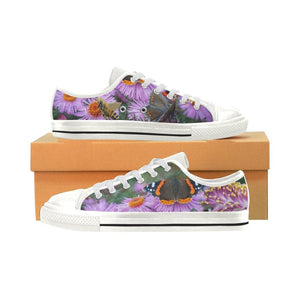 Butterfly Flowers Low Top Shoes