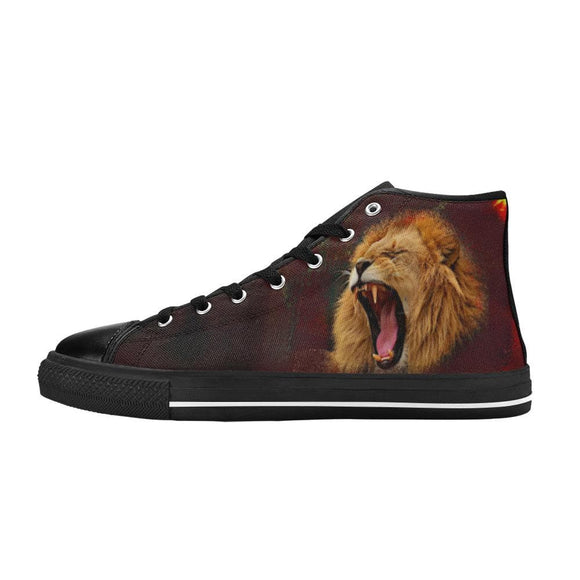 Roaring Lion High Top and Low Top Canvas Mens Shoes
