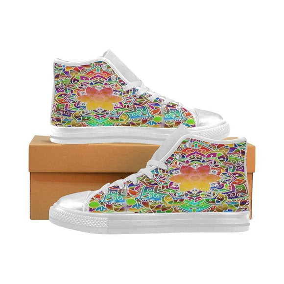 Beautiful Mandala Canvas Womens High Top Shoes