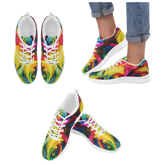 Colorful Roses Shoes