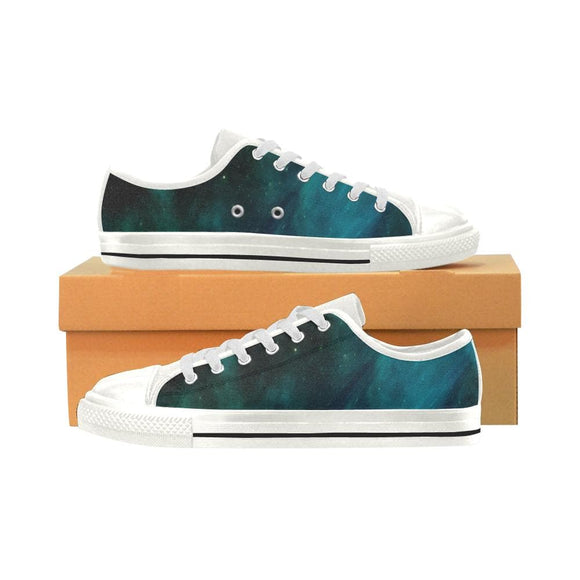 Blue Galaxy Low Top Shoes For Women