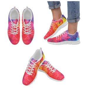 Pink And Blue Swirls Shoes