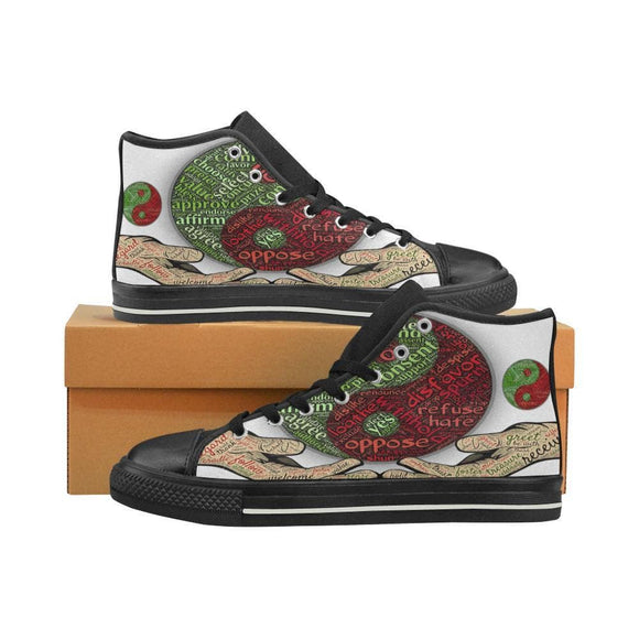 Lifes Hints Of In The Now Life Womens Canvas High Top Shoes