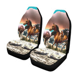 Horses On The Beach Car Seat Covers